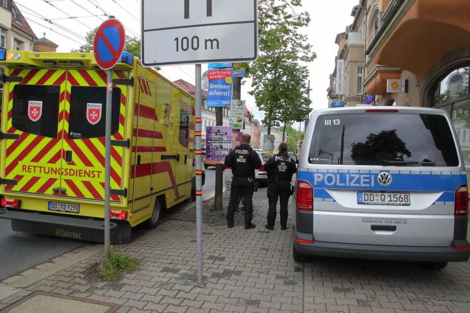 Der Randalierer konnte schließlich in der Commerzbank-Filiale festgenommen werden.