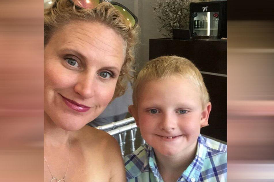 Loren (44) und ihr Sohn Kline McCormack (10).