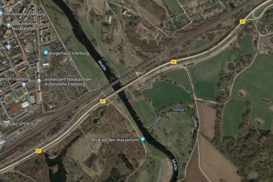 Der Vorfall ereignete sich auf Höhe der Muldenbrücke.