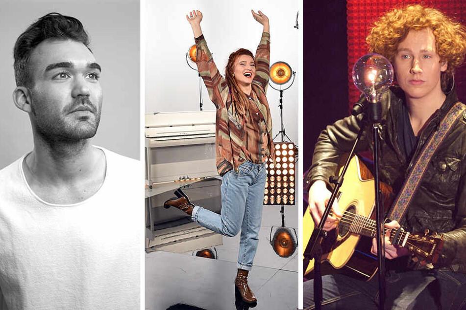 Künstler Ryk, Natia Todua und Michael Schulte treten am Donnerstag beim ESC-Vorentscheid auf.