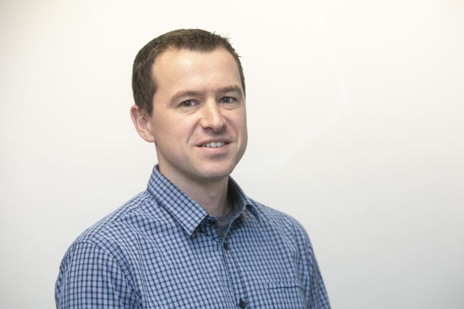 Alexander Schneider (35) ist Projektleiter für den Bau der Fernwärmeleitung.