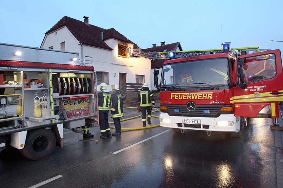 Nach rund 15 Minuten war das Feuer auch schon wieder gelöscht.