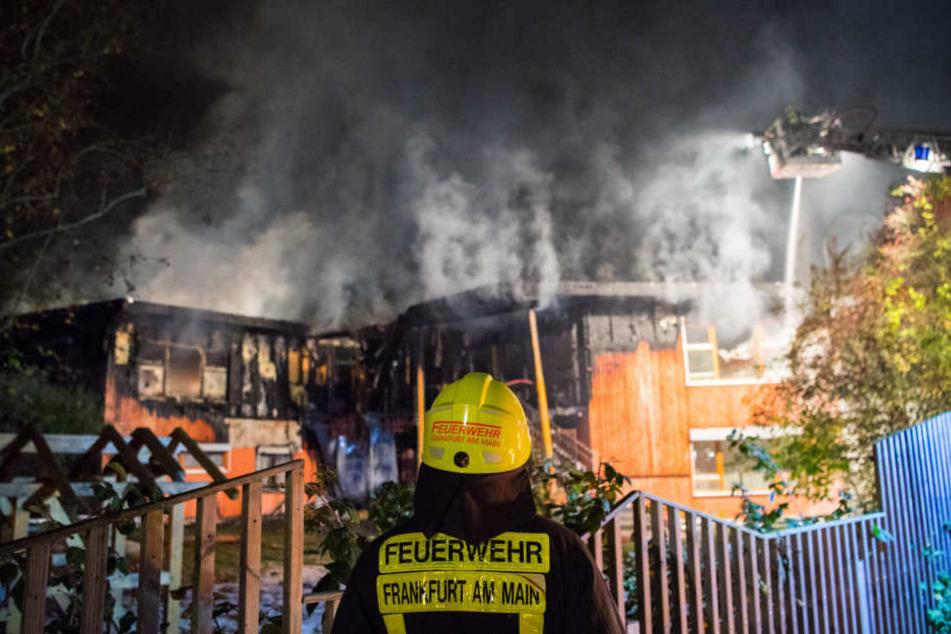 Beim letzten Brand eines Holzgebäudes in Frankfurt wurde eine Kindertagesstätte im Frankfurter Stadtteil Dornbusch zerstört.