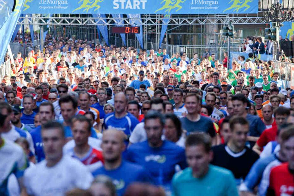 Im Vorjahr joggten fast 64.000 Menschen durch Frankfurt.