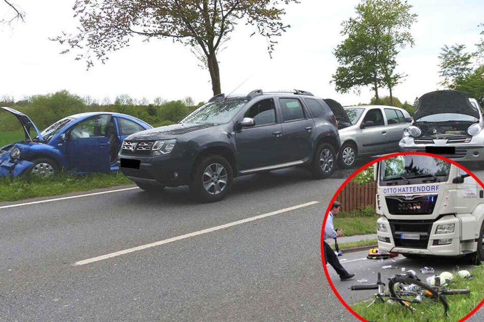 Chaos nach zwei Unfällen im Feierabend-Verkehr