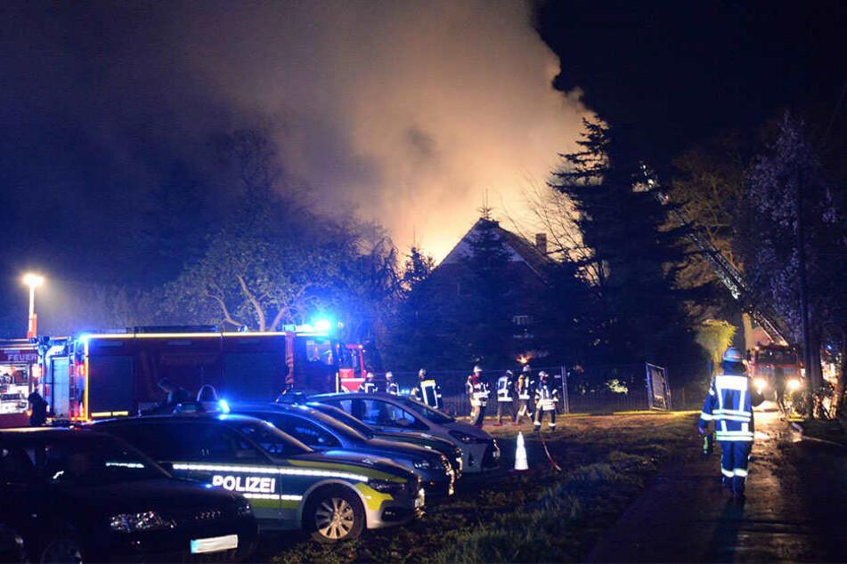120 Feuerwehrleute kamen bei dem Brand zum Einsatz.