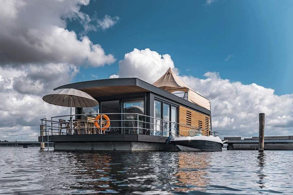 "So sollen die ""Floating Houses"" am Bärwalder See aussehen."
