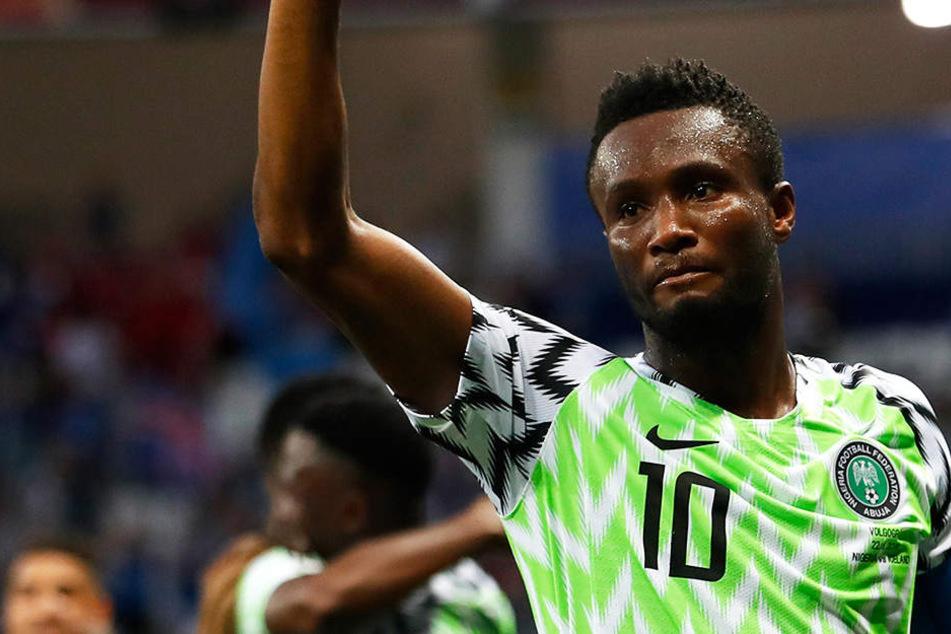 John Obi Mikel schied trotz seines Einsatzes mit Nigeria in der WM-Vorrunde aus.