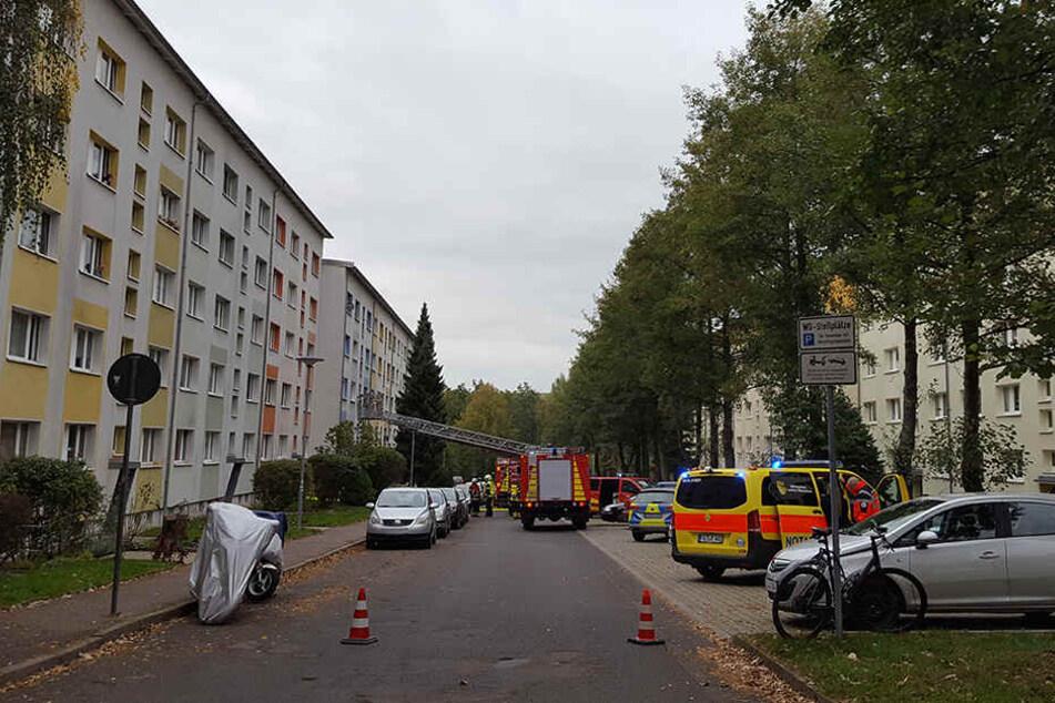 Das Feuer war am Dienstag in der Unnaer Straße in Döbeln ausgebrochen.