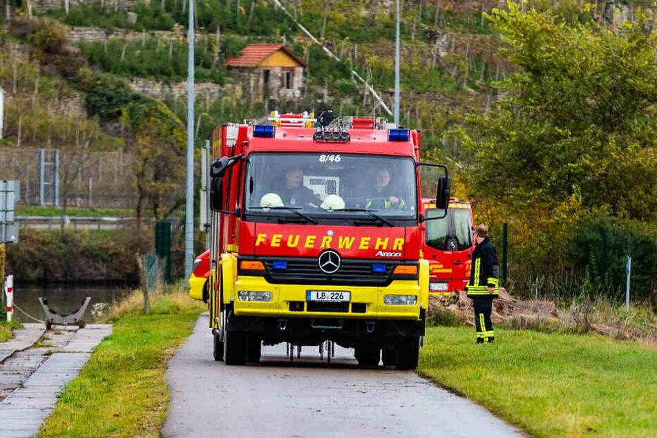 Die Feuerwehr war auch vor Ort.