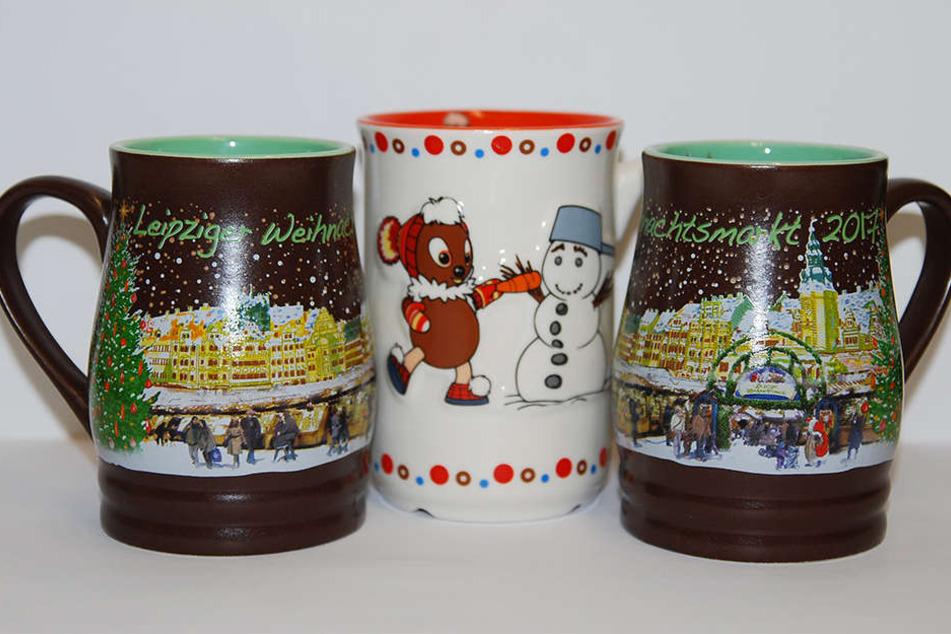 Dieses Design hat die meisten Leipziger überzeugt. Die Buden auf dem Weihnachtsmarkt räumen die neuen Tassen bereits ein.