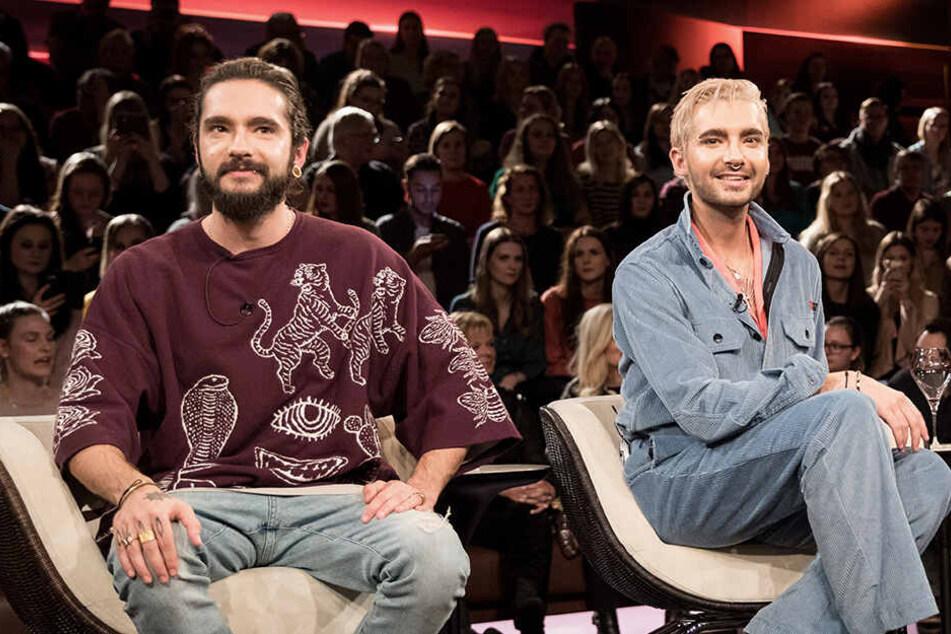 Bill Kaulitz (r) plant den Junggesellenabschied für Bruder Tom.