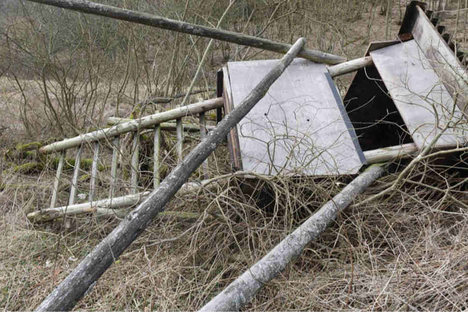 Die Jagdkanzel brach über dem Mann zusammen (Symbolbild).
