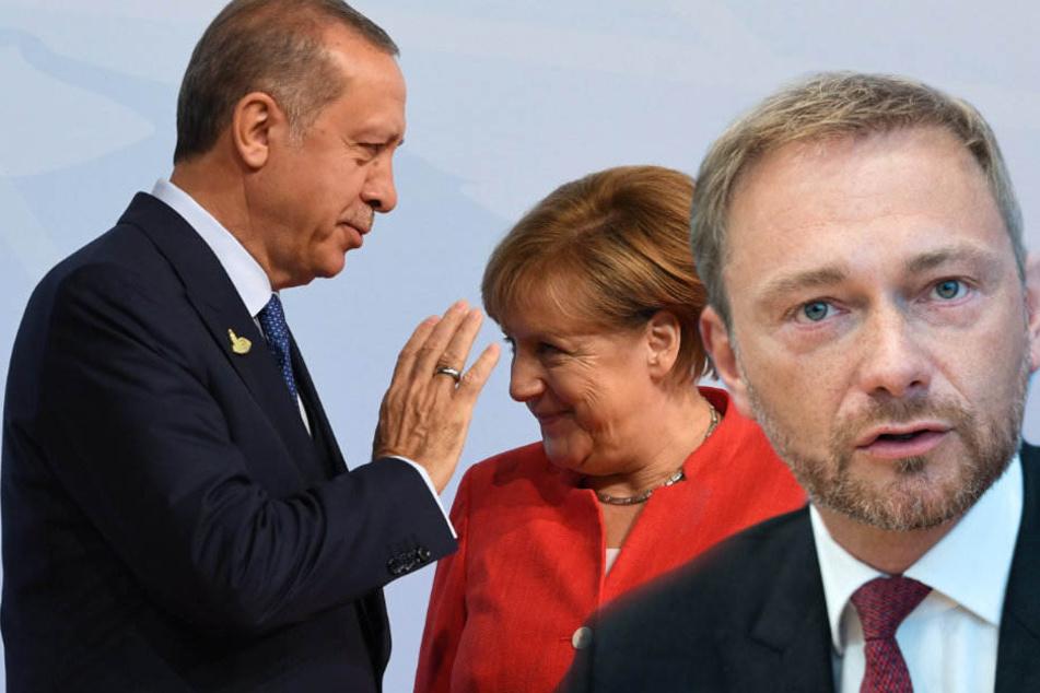 FDP-Chef Christian Lindner hat den Besuch von Recep Tayyip Erdogan kritisiert.