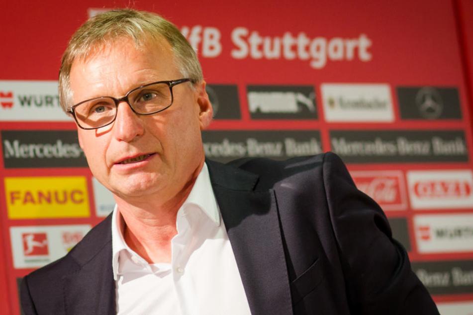 Michael Reschke ist seit 14.08.2017 Sportvorstand des VfB Stuttgart. Für ihn ist es eine besondere Partie. (Archivbild)