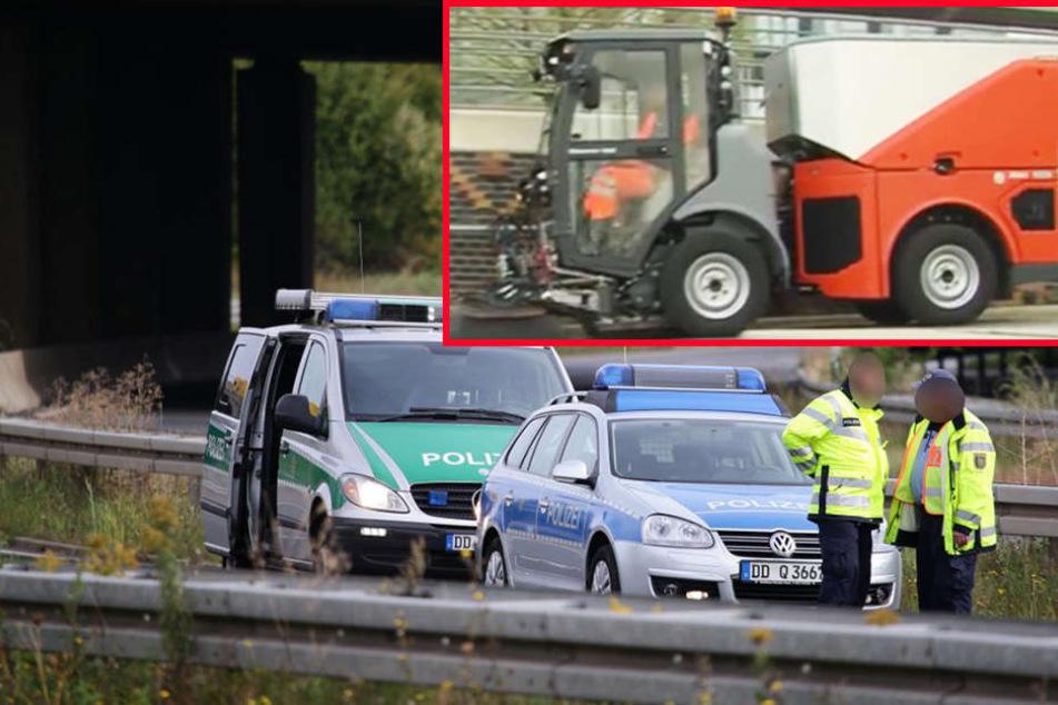 Tödlicher Kehrmaschinen-Unfall: Jetzt sucht die Polizei Zeugen!