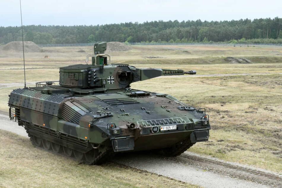 Ein Schützenpanzer Puma in der Erprobung.