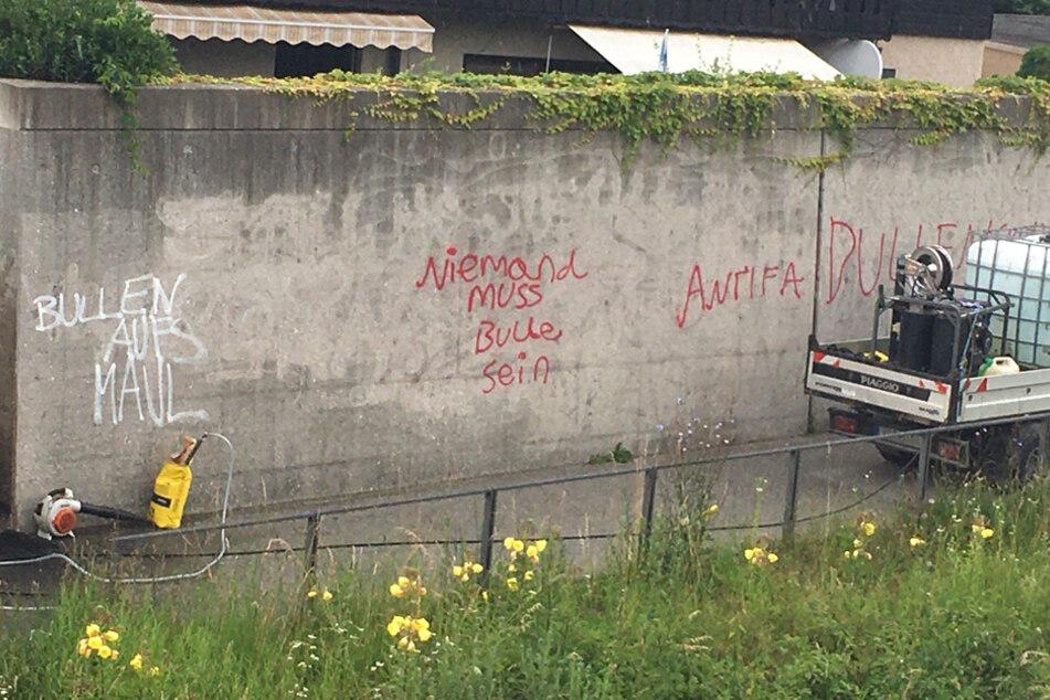 Linksextreme Graffitis: Schaden geht in die Zehntausende