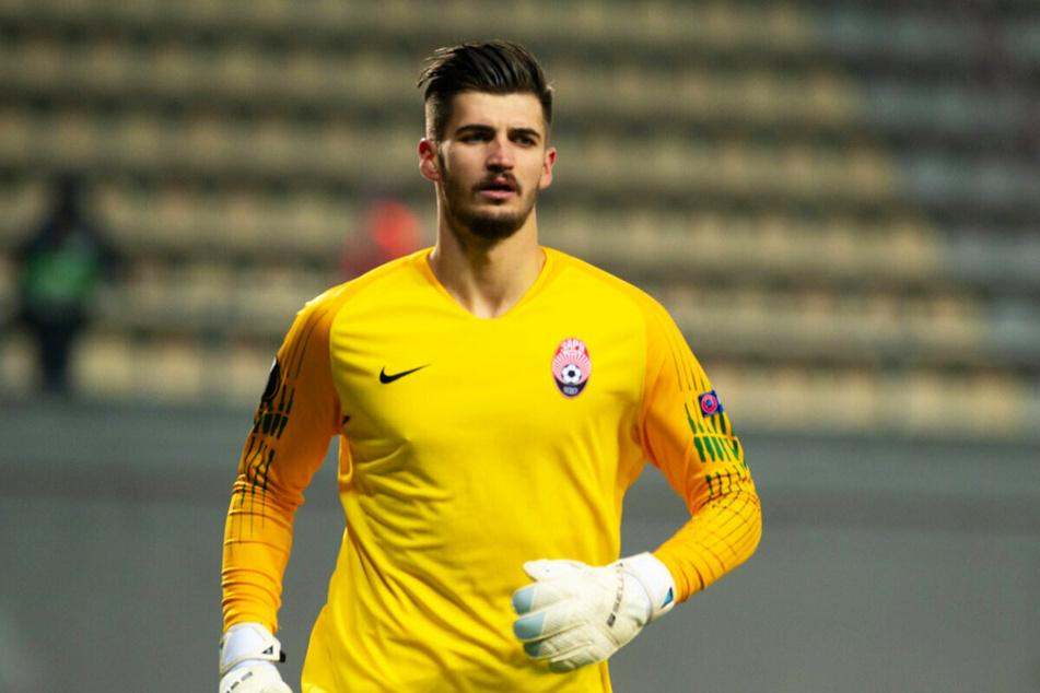 Nikola Vasilj lieferte im Tor von Zorya Luhansk zwei Megaparaden gegen Leicester City ab.