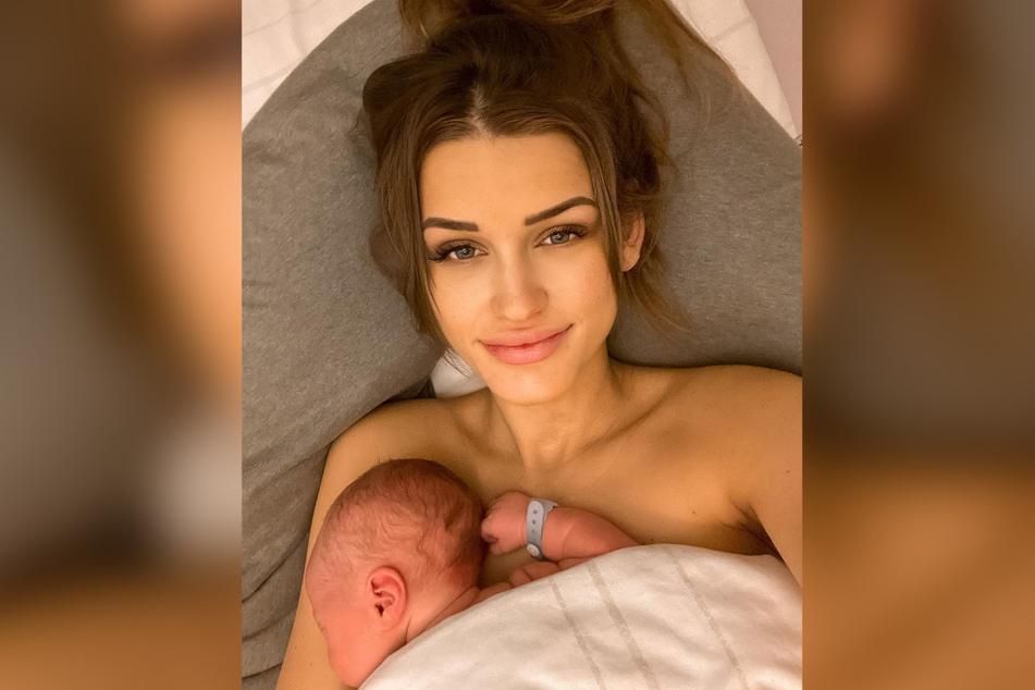 Mitte Januar brachte die 24-Jährige ihren Sohn zur Welt.