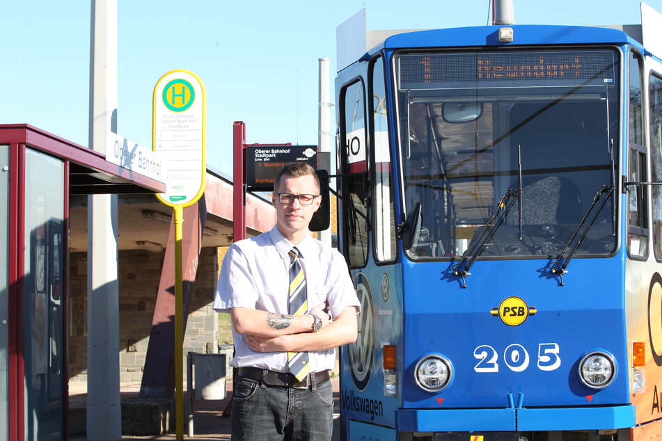 Straßenbahnfahrer Max Wündisch (31) wünscht sich mehr Solidarität.