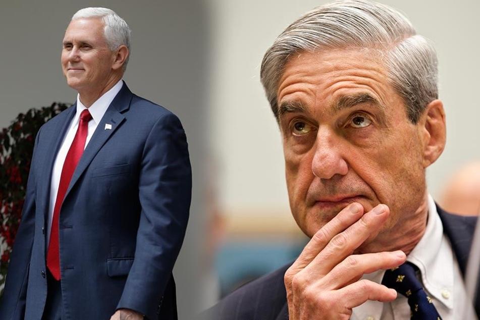 Lacht er am Ende und wird neuer Präsident? Mike Pence (links). Stürzt er Präsident Trump? FBI-Sonderermittler Robert Mueller will die Wahrheit aufdecken.