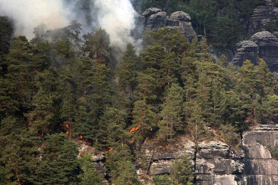 Noch immer sitzt die Gemeinde auf den Kosten des Großbrandes vom 2. August.