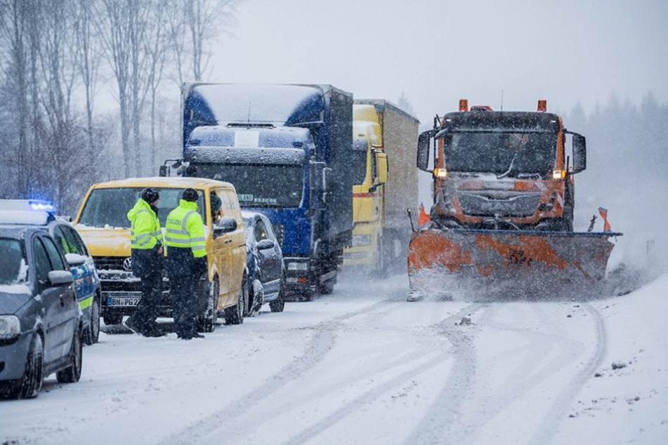Der Winterdienst im Dauereinsatz.