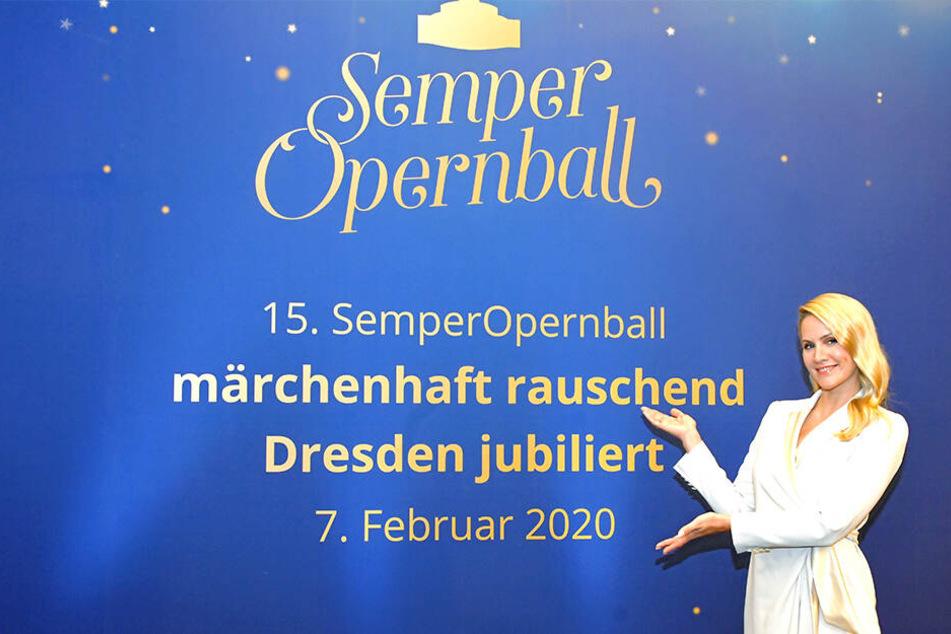 Am Dienstag wurde Judith Rakers als neue Moderatorin des 15. SemperOpernballs in Dresden vorgestellt.