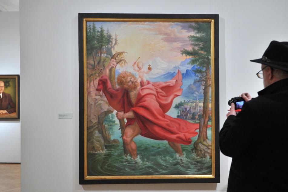 """""""Der Heilige Christophorus IV"""" ist eines der bekanntesten Gemälde von Otto Dix. In der aktuellen Sonderausstellungen sind Silberstiftzeichnungen zu sehen."""