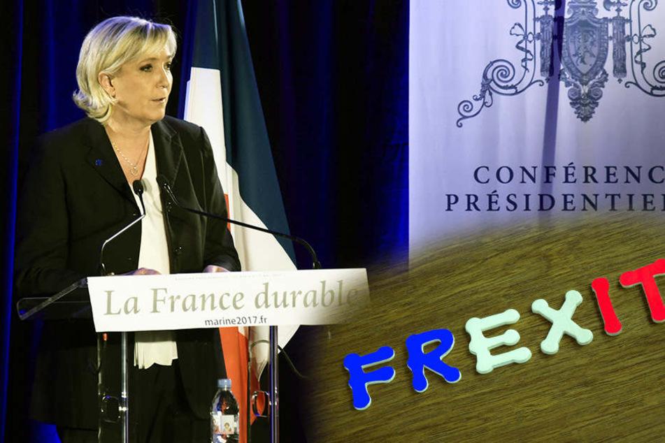 Marine Le Pen will den Frexit, wenn sie die Wahl gewinnen sollte.