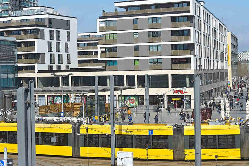 Die letzten leeren Gewerbe-Flächen verschwinden: Das Prager Carée vorm Hauptbahnhof soll bis Sommer voll vermietet sein.