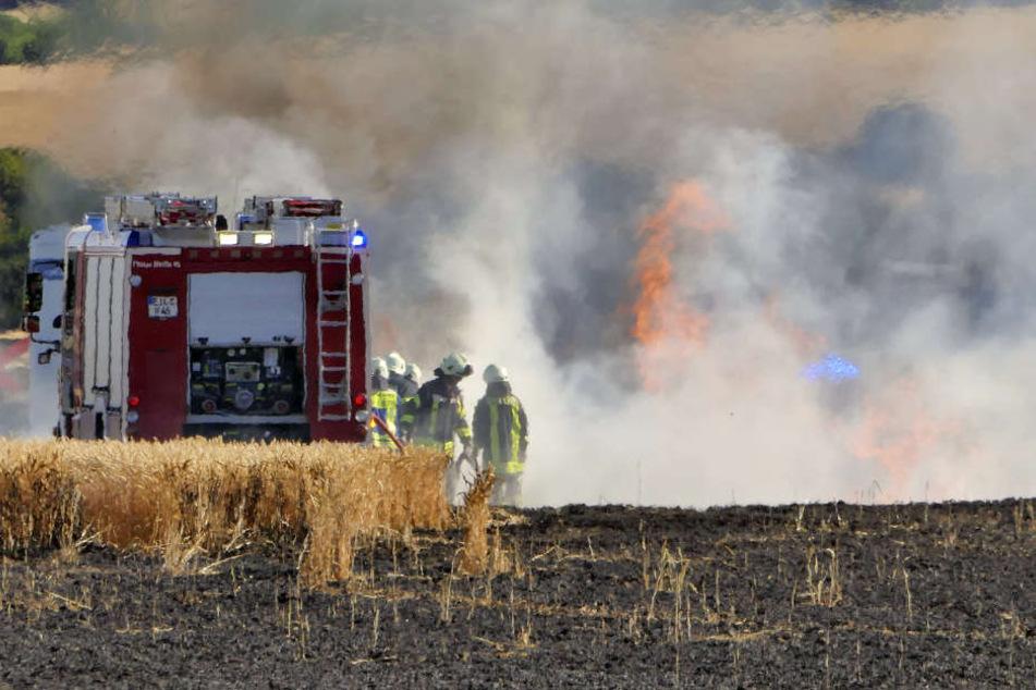 Nach etwa eineinhalb Stunden waren die Flammen gelöscht.