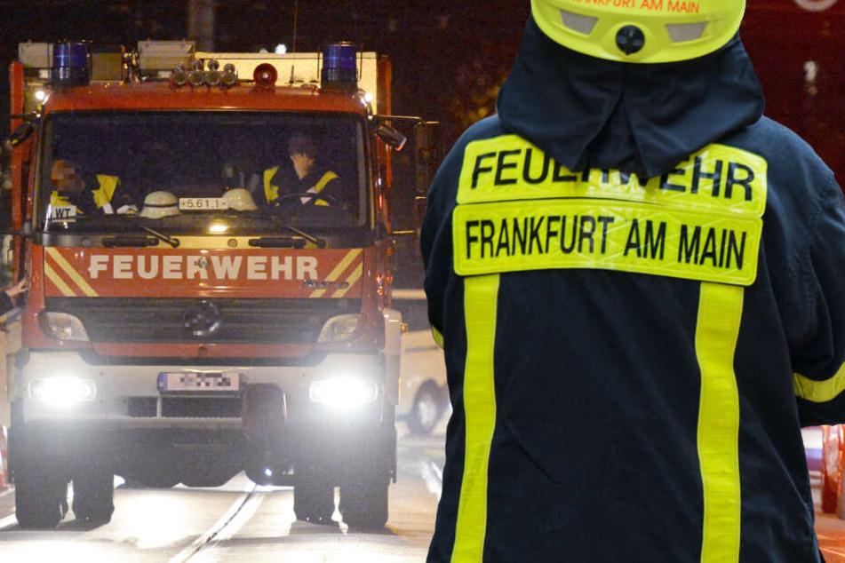 Alarm in Frankfurt: Balkon komplett in Flammen