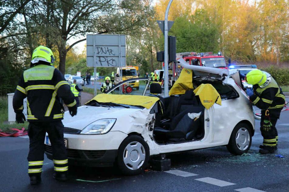 Das Auto erlitt einen wirtschaftlichen Totalschaden.