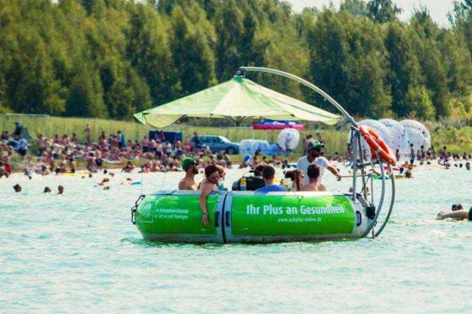 Hier seht Ihr eine der beliebten Grill-Inseln :-)