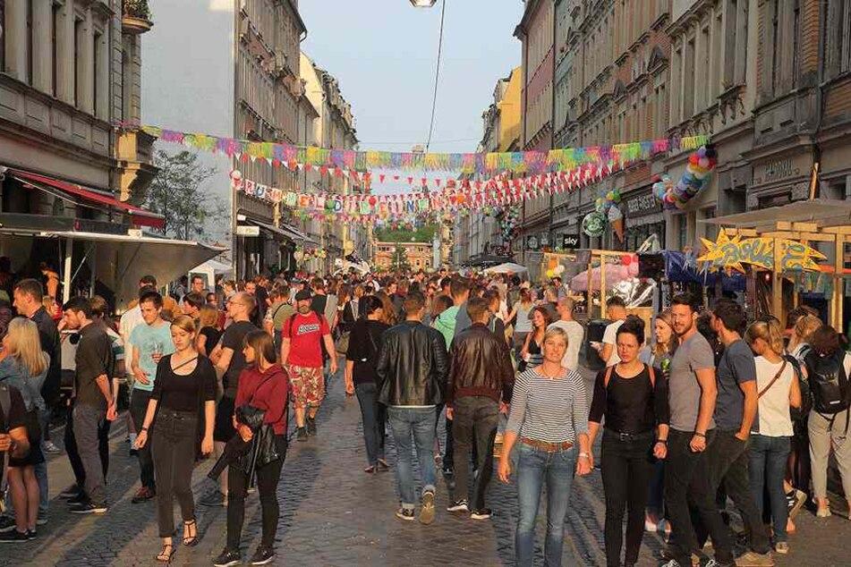 Ein Bild von der BRN 2018. Auch letztes Jahr fiel das Fest in der Neustadt größtenteils friedlich aus.