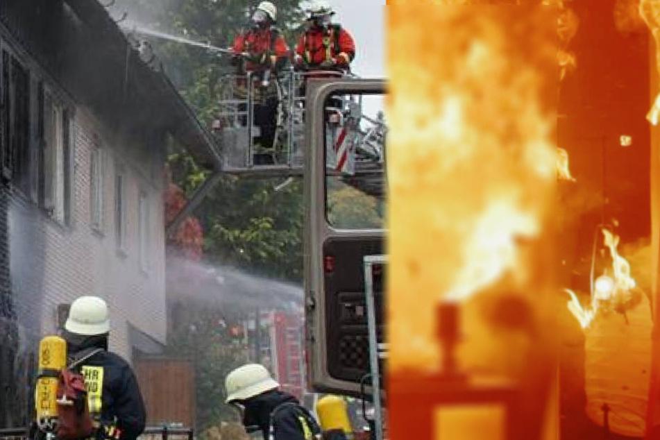 Ähnlich wie auf dem Foto musste auch die Feuerwehr in Greiz ausrücken und den Brand unter Kontrolle bringen (Symbolbild).