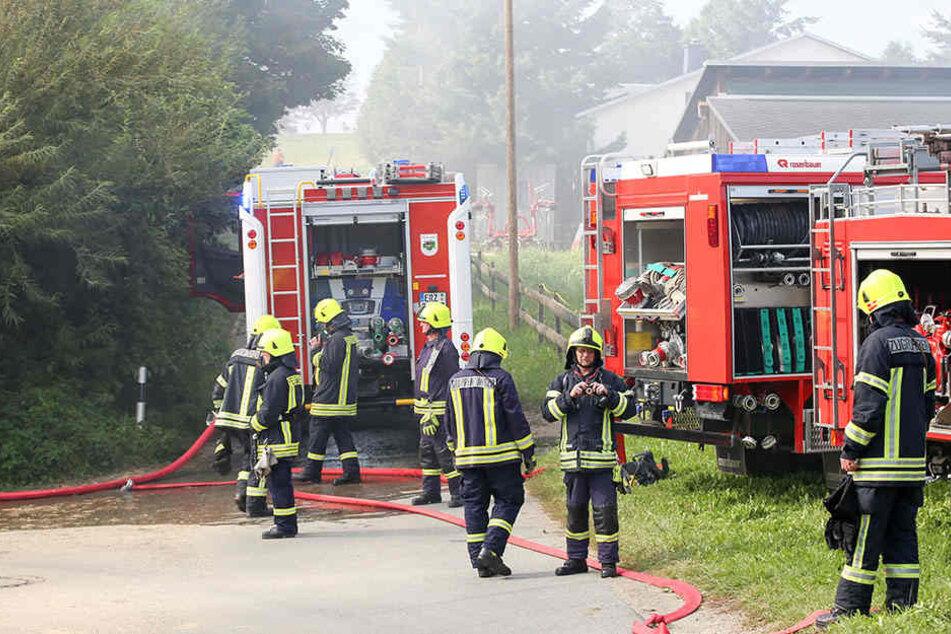Die Feuerwehr wurde zum Brand auf dem Deponiegelände gerufen.