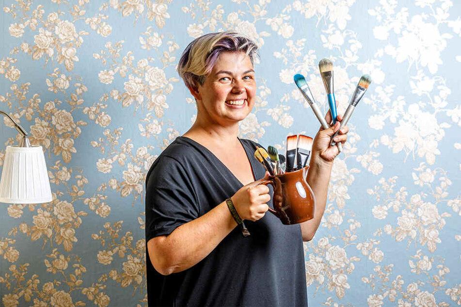Mit Farbe, Pinsel und Airbrush-Pistole entwirft Silke Kirchhoff (44) spektakuläre Körperkunst.
