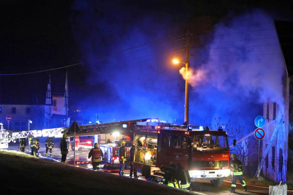 An Silvester brannte es in einem Wohnhaus in Glauchau.
