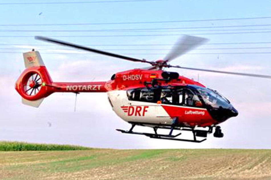 Bergwacht und ein Notarzt kümmerten sich um den Verletzten.