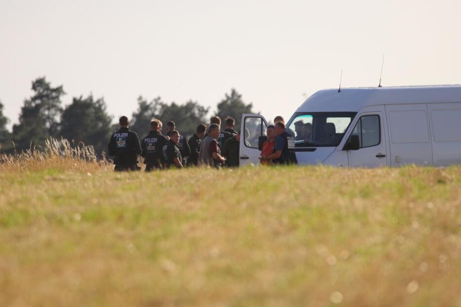 Die Leiche des Mannes wurde in einem Getreidefeld gefunden.