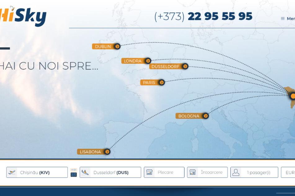 Auf den ersten Blick wirkt die Website der Airline professionell.