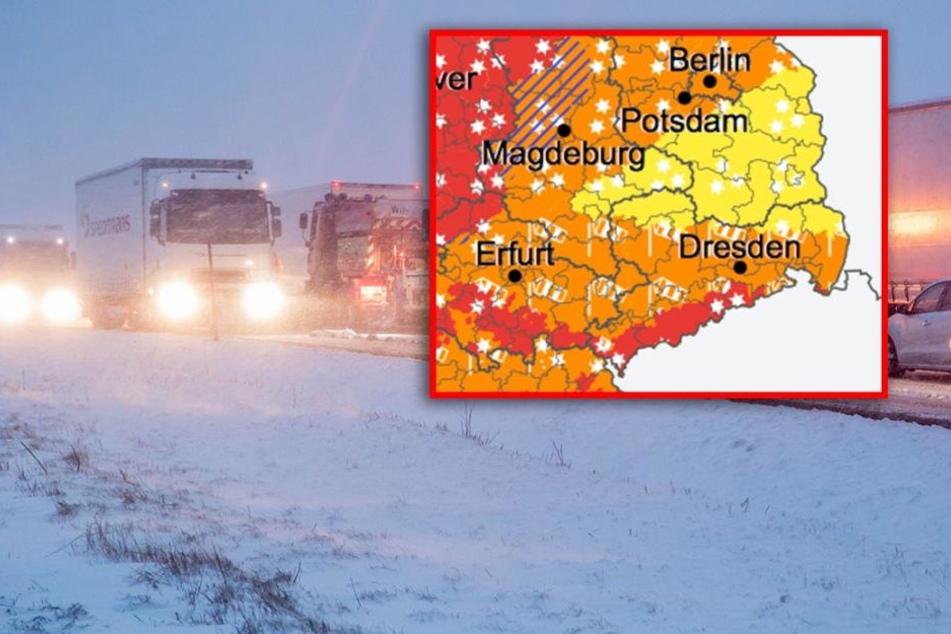 Unwetterwarnung! Orkan, Schnee und Gewitter rollen auf Sachsen zu