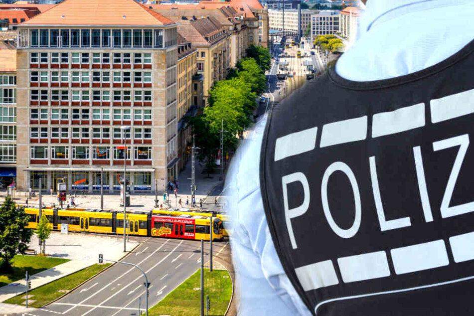 Körperverletzung am Pirnaischen Platz: Täter flüchtet in Begleitung von Mädchen (etwa 16)