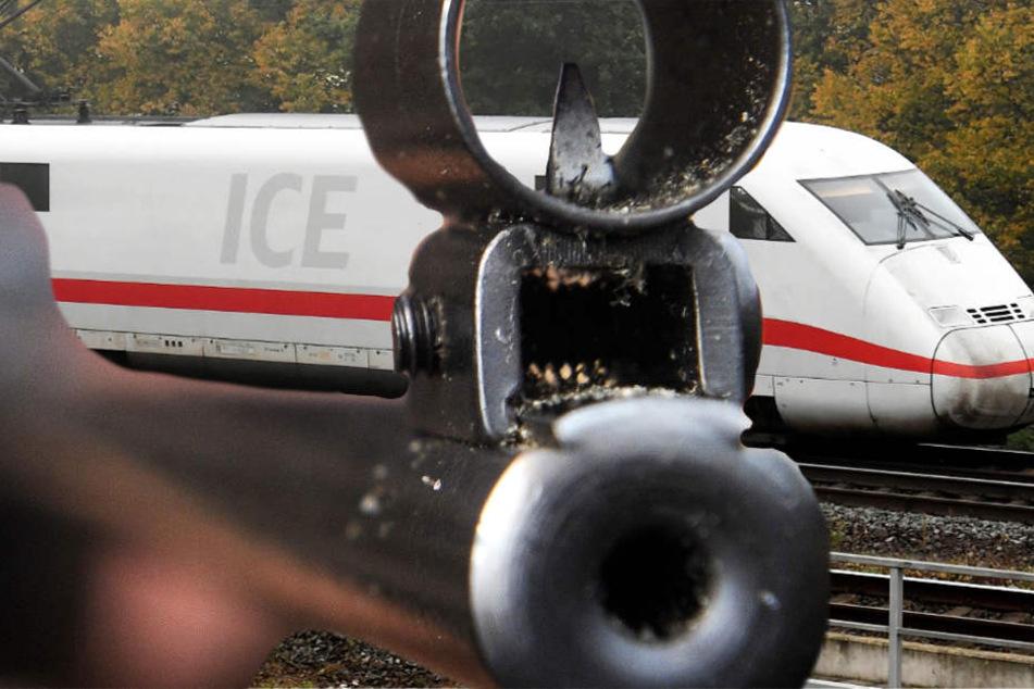 Der ICE wurde mit mindestens einem Luftgewehr beschossen (Symbolbild).