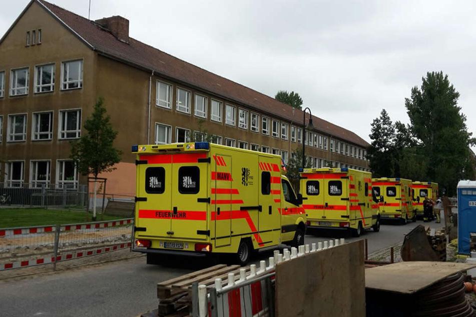 Die Feuerwehr rückte mit 30 Mann an.