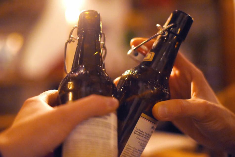 Auf dem Fest floss reichlich Bier.