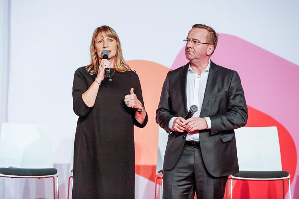 Ost-West-Team mit Heimvorteil für die Dame: Petra Köpping (61) und Boris Pistorius (59) wollen gern SPD-Bundes-Chefs werden.
